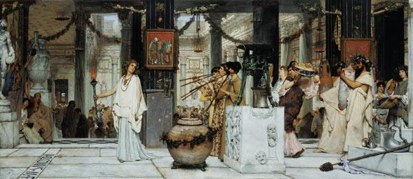 The Vintage Festival in Ancient Rome 1871
