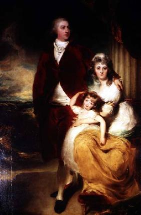 Henry, 10th Earl and 1st Marquess of Exeter, his wife Sarah and daughter Lady Sophia Cecil his wife S