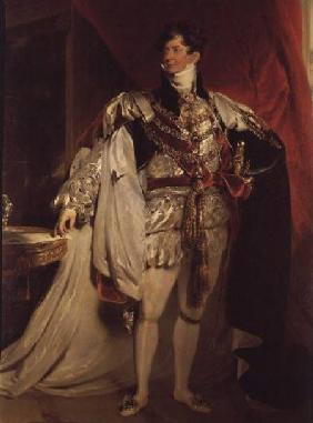 The Prince Regent, later George IV (1762-1830) in his Garter Robes 1816