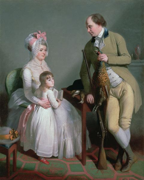 Mr and Mrs Custance of Norwich and their Daughter Frances c.1786