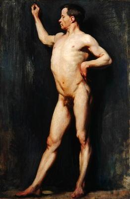 Male Figure Standing, 1899 (oil on canvas) 14th