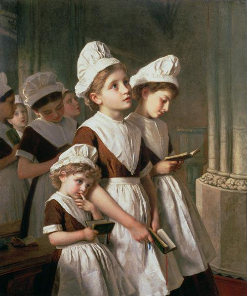 Foundling Girls at Prayer in the Chapel c.1877