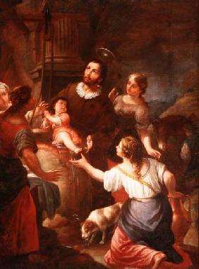 St. Isidore and the Miracle at the Well, School of Madrid