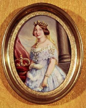 Miniature portrait of Queen Isabella II (1830-1904)
