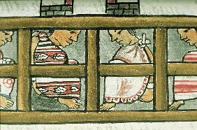 Ms Palat. 218-220 Book IX Aztec prisoners, from the ''Florentine Codex'' by Bernardino de Sahagun, c