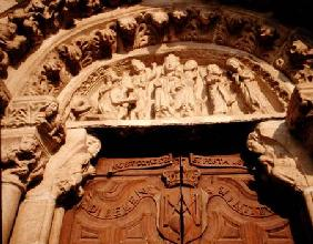 Tympanum of west portal of Sta Maria del Azogue 1346-1447