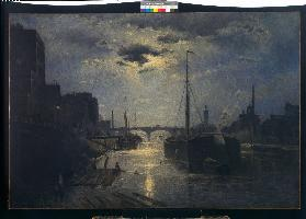 Der Kanal Saint Martin in Paris Um 1881