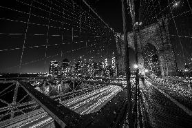 Brooklyn Bridge leuchtet