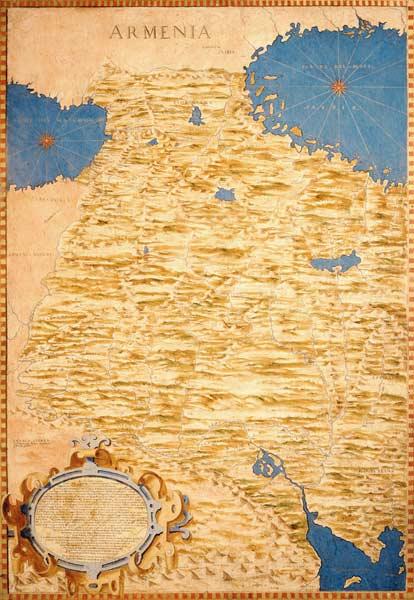 Map of Armenia - Stefano Bonsignori als Kunstdruck oder handgemaltes ...