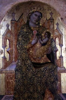 Madonna and Child Enthroned (tempera on panel) 1839