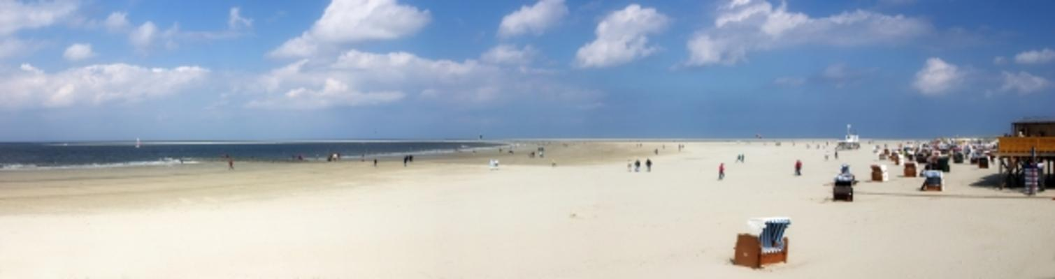 borkum strand panorama stephan sprick als kunstdruck oder handgemaltes gem lde. Black Bedroom Furniture Sets. Home Design Ideas