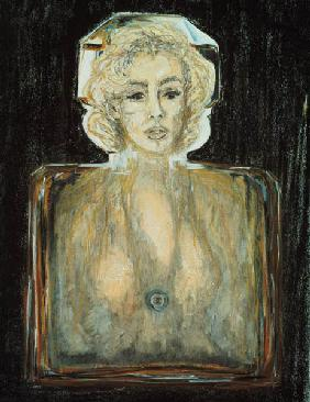 Marilyn in Chanel, 1996 (pastel, pencil and charcoal on paper)