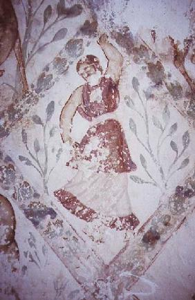Fresco depicting a female dancer, from the Apodyterium early 8th