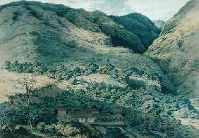 Ravine and River at St. Denis, Bourbon 1814  on