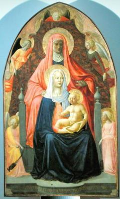 Madonna and Child with St. Anne, 1424-5 (tempera on panel) 19th