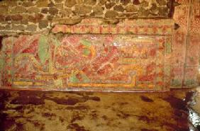 Mural of feathered Serpent