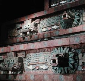 Reproduction of the Temple of Quetzalcoatl