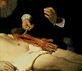 The Anatomy Lesson of Dr. Nicolaes Tulp, 1632 (detail of 7543)