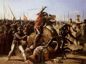 Duke of Friedland (1583-1634) at The Charge of Wallenstein 1839