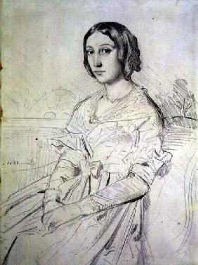 Portrait of a Young Woman 1841 cil o