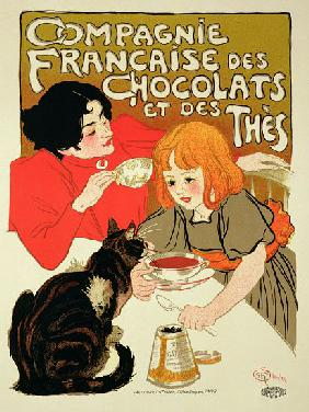 Poster Advertising the French Company of Chocolate and Tea