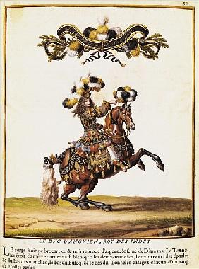 The Duke of Enghien as the King of the Indians at the Carousel Performed for Louis XIV (1638-1715) i