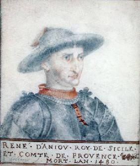 Portrait of Rene I (1409-80) Duke of Anjou