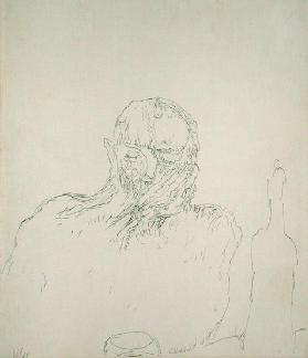 The Drinker, 1909 (no 35) (pen on paper on carboard)  1909