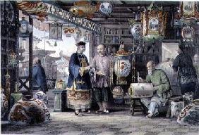 Showroom of a Lantern Merchant in Peking 1843
