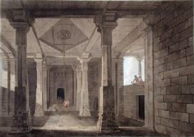Part of the Interior of an Hindoo Temple at Deo, in Bahar, plate VI from 'Oriental Scenery' published