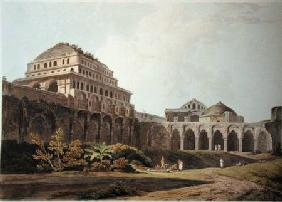 Part of the Palace, Madura, plate XIII from 'Oriental Scenery' published
