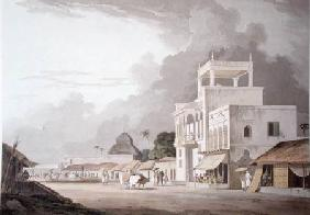 View on the Chitpore Road, Calcutta, plate II from 'Oriental Scenery' published