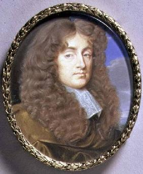 Portrait Miniature of a Man in Brown Velvet 1675  on