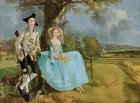 Mr and Mrs Andrews Detail c.1748-9