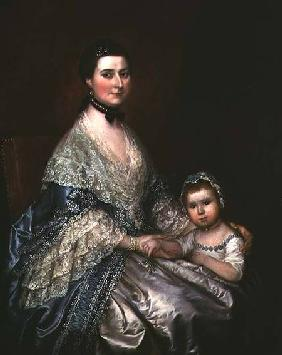 Mrs. Bedingfield and her Daughter 1760s