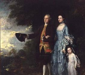 Mr. and Mrs. George Byam and their eldest daughter, Selina c.1764