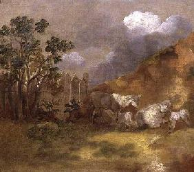 Landscape with Sheep c.1744