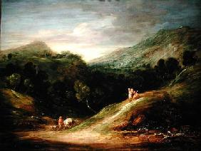 Mountain Landscape with a Drover and a Packhorse c.1786