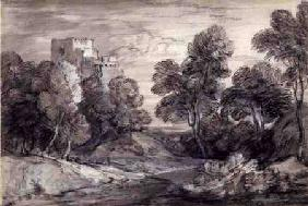 Wooded Landscape with a Castle 18. Jh