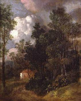 Wooded Landscape with Country House and Two Figures c.1752