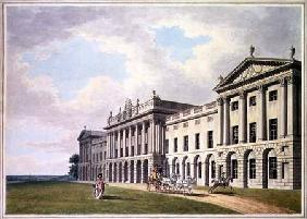 View of Heveningham Hall in Suffolk, the Seat of Sir Gerrard Vanneck Bart  &