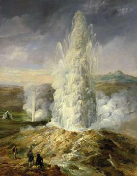 The Great Geysir, South Iceland 1849