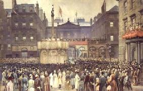 The Presentation of the Restored Market Cross, Edinburgh, to the Magistrates Council by the Right Ho 23rd Novem