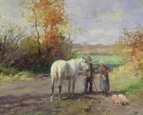 Encounter on the Way to the Field 1897