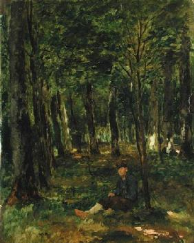 Young Farmer sitting in the Forest 1878