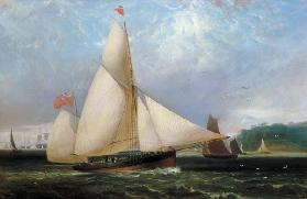 The 12th Duke of Norfolk's Yacht 'Arundel' (oil on canvas) 19th