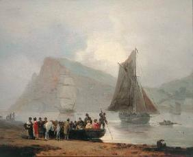 Boarding the Ferry at Teignmouth 1821