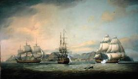 East Indiaman Ceres off St Helena 1788
