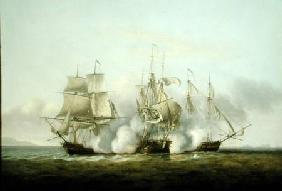 HMS Gore in Action With the French Brigs 'Palinure' and 'Pilade'