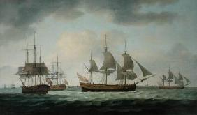Merchant Vessels off the Coast 1783